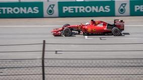 SEPANG - 29 MAART: Sebastian Vettel Royalty-vrije Stock Fotografie