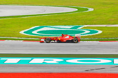 SEPANG, MALESIA - 9 APRILE: Fernando Alonso (gruppo Scuderia Ferrar Immagini Stock