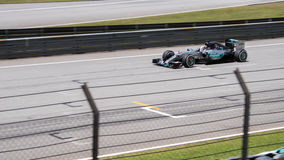 SEPANG - MARCH 28: Lewis Hamilton in Qualifying Session Stock Photography