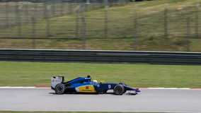 SEPANG - MARCH 27: Marcus Ericsson in sector 2. SEPANG - MARCH 27: Marcus Ericsson of Sauber F1 Team at 2015 Formula 1 Petronas Malaysia Grand Prix Second Stock Images