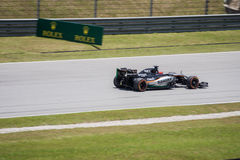 SEPANG - MARCH 27: Nico Hulkenberg in sector 2 Royalty Free Stock Photo