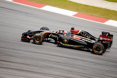 SEPANG - MARCH 28: Romain Grosjean in Practice Session 2 Royalty Free Stock Image