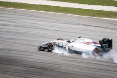 SEPANG - MARCH 28: Valtteri Bottas brake lock Stock Image