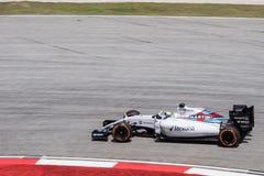SEPANG - MARS 27: Felipe Massa i den sista kurvan Arkivfoto