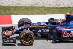 SEPANG - 27 MARZO: Carlos Sainz in ultima curva Fotografia Stock