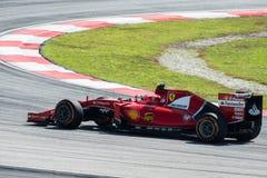 SEPANG - 27 MARZO: Kimi Räikkönen in prima curva Fotografie Stock Libere da Diritti