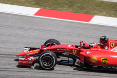 SEPANG - 27 MARZO: Kimi Räikkönen in ultima curva Fotografia Stock