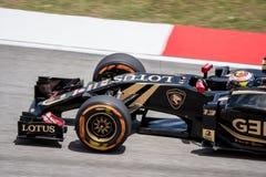 SEPANG - 27 MARZO: Pastor Maldonado in ultima curva Immagine Stock