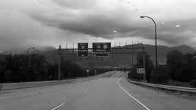 Separação da entrada da estrada fora Fotografia de Stock Royalty Free