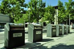 Separação favorável ao meio ambiente de lixo Fotografia de Stock