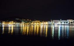 Separação na Croácia na noite Fotos de Stock