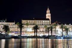 Separação na Croácia na noite Fotografia de Stock Royalty Free