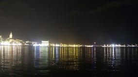 Separação na Croácia na noite video estoque