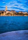 Separação na hora azul, Croácia Fotos de Stock