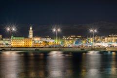 Separação na noite, Croácia Fotos de Stock Royalty Free