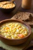 Separação Pea Soup do amarelo do vegetariano Foto de Stock Royalty Free