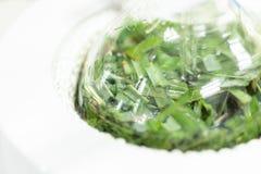 Separação pela condensação da filtragem e da evaporação as substâncias componentes da mistura líquida no laboratório fotos de stock royalty free