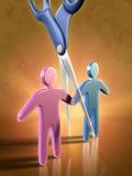 Separación de los pares Imagen de archivo libre de regalías