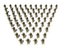Separación de soldados Foto de archivo