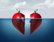 Separación del divorcio stock de ilustración
