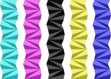 Separadores geométricos Ilustración del Vector