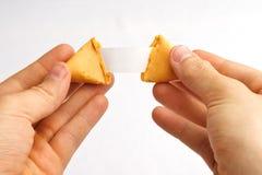 Separare del biscotto di fortuna Immagini Stock