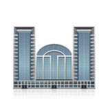 Separat stehendes Bürogebäude, Geschäftscent Stockfotografie