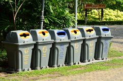 A separate garbage bin allows easy separation of waste. Separate garbage bin allows easy separation of waste Stock Images
