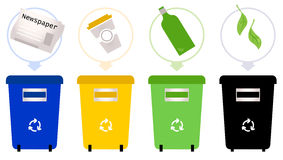Separate Garbage collection Stock Image