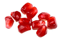 Separate grains of  pomegranate Royalty Free Stock Images