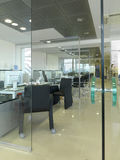 Separate offices. With glass walls royalty free stock image