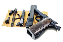 Separate parts handgun Royalty Free Stock Images
