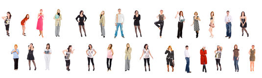 Separate people. Of Groups of people multiple series Royalty Free Stock Image