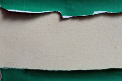 SEPARATE PIECE OF GREEN PAPER Stock Photography