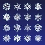 Separate Snowflakes Doodles Vector Rustic christmas clipart new year snow crystal illustration in flat style. Eps10 vector illustration