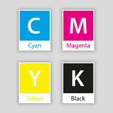 Separate swatch in cmyk color with color name Royalty Free Stock Photo