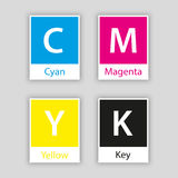 Separate swatch in cmyk color with color name Royalty Free Stock Images