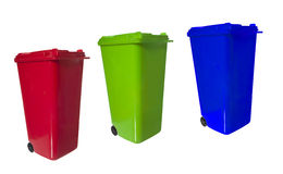 Separate trash bins Stock Photos