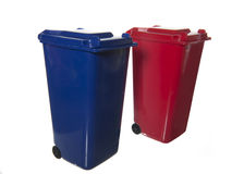 Separate trash bins Stock Photo