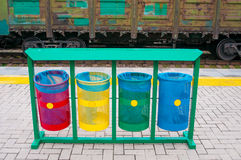 Separate waste bins Stock Image