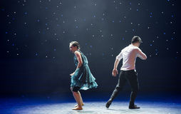 Separate ways-Love is painful-Modern dance Royalty Free Stock Photos
