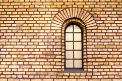 Separate window in brick wall Royalty Free Stock Photo