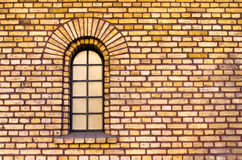 Separate window in brick wall Stock Photography