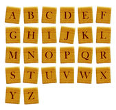 Separated alphabet blocks of all the letters Royalty Free Stock Photo