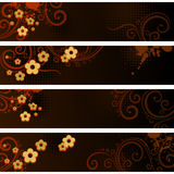 Separated banners stock illustration