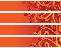 Separated banners Stock Images
