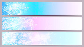 Separated banners Stock Photography