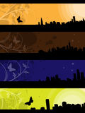 Separated banners. Four separated banner with similar design elements for your text Stock Image