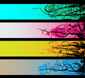 Separated banners. This image is a vector illustration Royalty Free Stock Image