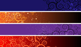 Separated banners Royalty Free Stock Images